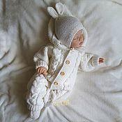 Одежда детская handmade. Livemaster - original item Jumpsuit knitted Cozy warmth. Handmade.