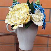 Цветы и флористика ручной работы. Ярмарка Мастеров - ручная работа Букет с первоцветами в чашке. Handmade.