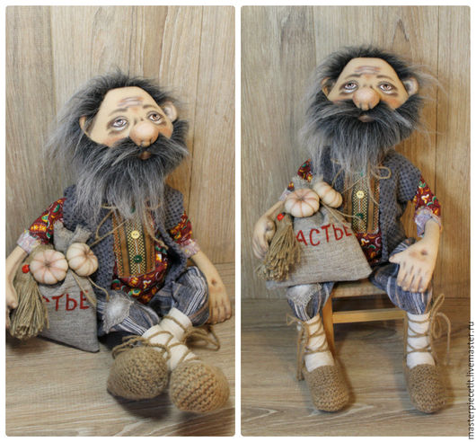 Сказочные персонажи ручной работы. Ярмарка Мастеров - ручная работа. Купить Домовой. Handmade. Комбинированный, интерьерная кукла, текстильная игрушка