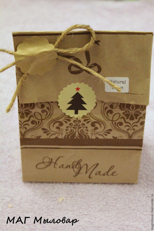Подарочная упаковка для мыла Крафт пакет, Упаковка, Долгопрудный, Фото №1