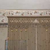 Для дома и интерьера ручной работы. Ярмарка Мастеров - ручная работа Штора для оформления дверного проема. Handmade.