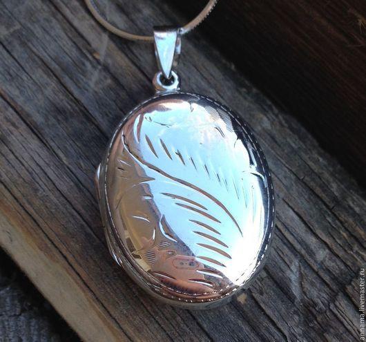 Для украшений ручной работы. Ярмарка Мастеров - ручная работа. Купить Медальон Морозный узор-2 серебро 925. Handmade.
