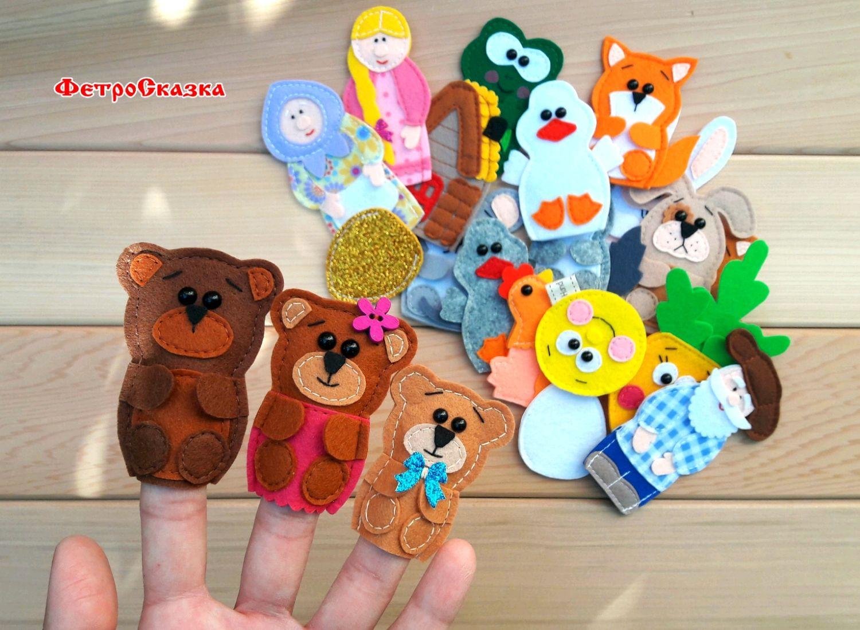 Большой кукольный театр из фетра! Пальчиковые игрушки из 6 сказок, Кукольный театр, Морозовск,  Фото №1