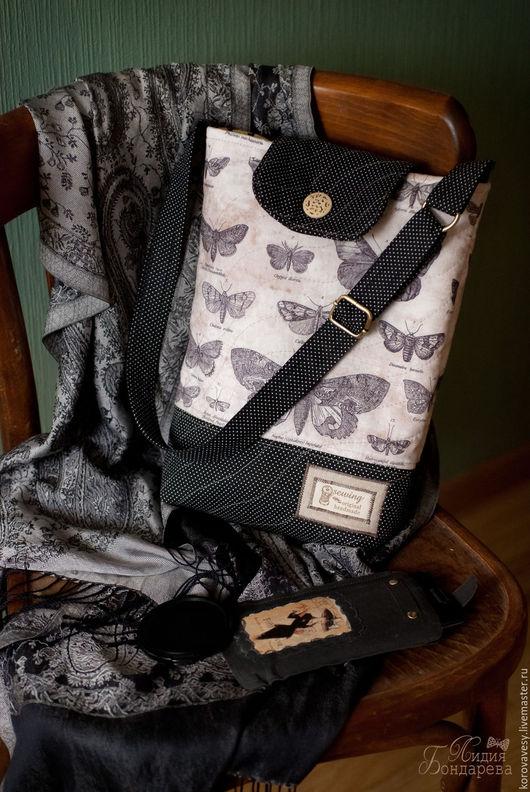 """Женские сумки ручной работы. Ярмарка Мастеров - ручная работа. Купить SALE! """"Коллекция бабочек"""". Handmade. Черный, сумка для прогулок"""