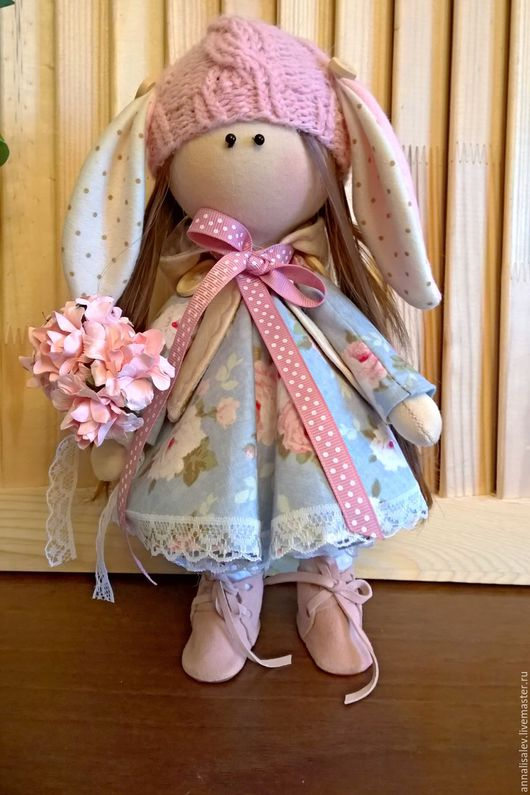 Коллекционные куклы ручной работы. Ярмарка Мастеров - ручная работа. Купить Аня (интерьерная куколка). Handmade. Голубой, интерьерная кукла