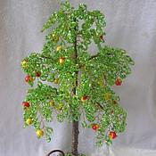 """Цветы и флористика ручной работы. Ярмарка Мастеров - ручная работа дерево из бисера """"Яблоня"""". Handmade."""