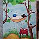 роспись стены в детской комнате