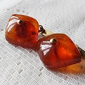 Винтаж handmade. Livemaster - original item Cufflinks made of amber. Handmade.
