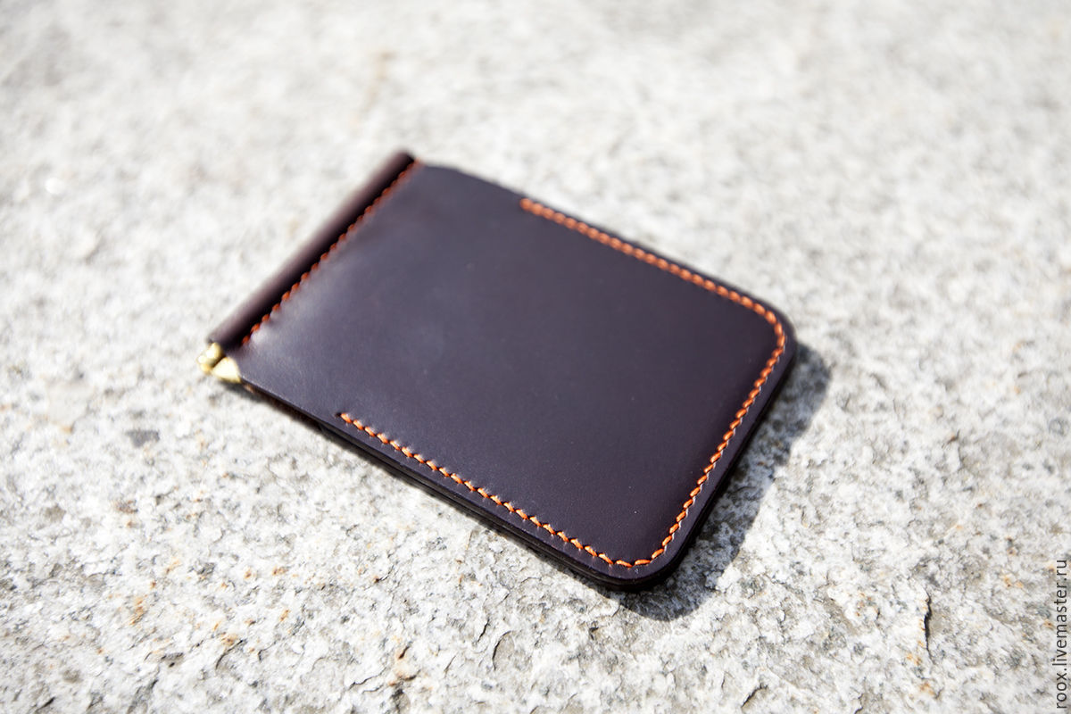 Wallet with money clip (Horween leather ), Clamps, Moscow,  Фото №1