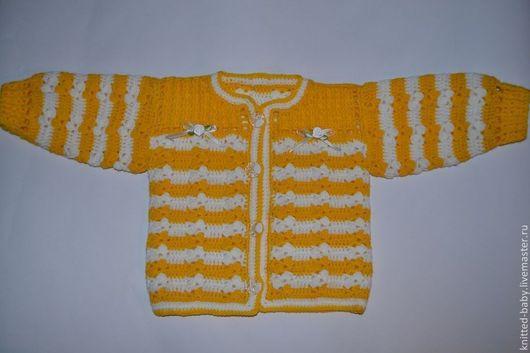 Одежда унисекс ручной работы. Ярмарка Мастеров - ручная работа. Купить Кофточка детская Солнечное настроение. Handmade. Вязание для детей