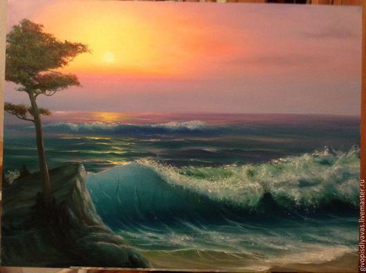 Пейзаж ручной работы. Ярмарка Мастеров - ручная работа. Купить Океан. Handmade. Бирюзовый, подарок