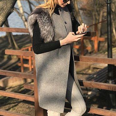 Одежда ручной работы. Ярмарка Мастеров - ручная работа Жилет с мехом песца. Handmade.