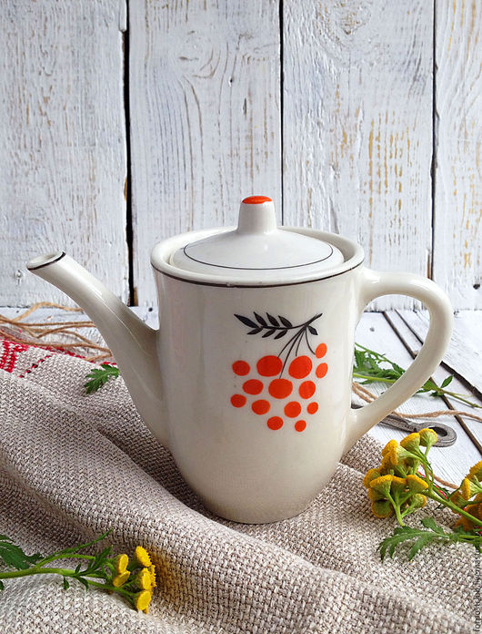 Винтажная посуда. Ярмарка Мастеров - ручная работа. Купить Винтажный заварочный чайник Гжель. Handmade. Комбинированный, куплю, ретро, фарфор