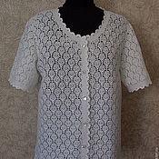 Одежда ручной работы. Ярмарка Мастеров - ручная работа Кофта из хлопка Ах,ажур. Handmade.