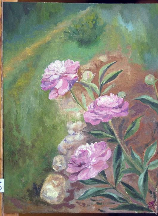 Картины цветов ручной работы. Ярмарка Мастеров - ручная работа. Купить Свежесть Пионов. Handmade. Комбинированный, лета, картины, Живопись