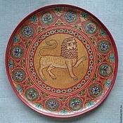 Русский стиль handmade. Livemaster - original item Plate vintage