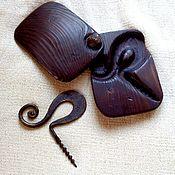 Подарки ручной работы. Ярмарка Мастеров - ручная работа Кованый штопор в деревянном футляре.подарочный набор мужу мужчине отцу. Handmade.