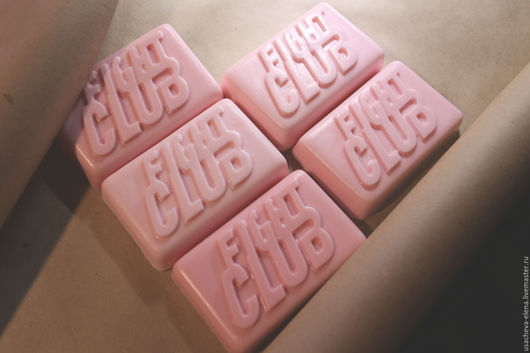 """Мыло ручной работы. Ярмарка Мастеров - ручная работа. Купить Мыло """"Fight Club"""". Handmade. Брусничный, подарок девушке, глицерин"""