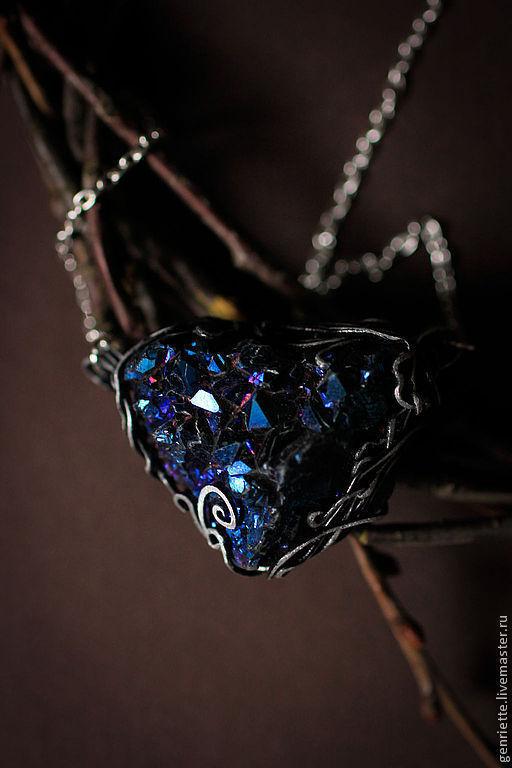 """Кулоны, подвески ручной работы. Ярмарка Мастеров - ручная работа. Купить Подвеска """"Сердце синих гор"""". Handmade. Тёмно-синий"""
