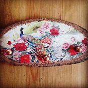 Для дома и интерьера ручной работы. Ярмарка Мастеров - ручная работа Ключница - вешалка Китайский сад. Handmade.