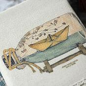 """Канцелярские товары ручной работы. Ярмарка Мастеров - ручная работа Блокнот """"Бумажный кораблик"""". Handmade."""