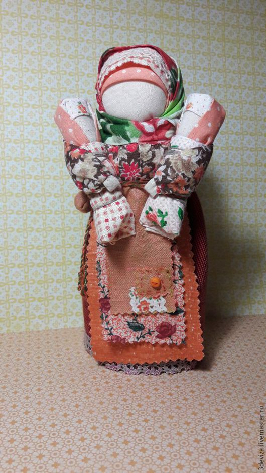 Народные куклы ручной работы. Ярмарка Мастеров - ручная работа. Купить Мамушка. Народная кукла ручной работы.. Handmade. Оранжевый