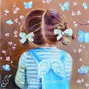 Картины и панно ручной работы. Ярмарка Мастеров - ручная работа Голубые бабочки. Handmade.