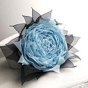 Украшения handmade. Livemaster - original item Brooch hair clip with fabric flower. Blue rose. Handmade.
