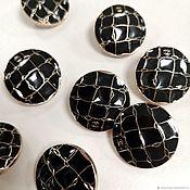 Материалы для творчества handmade. Livemaster - original item Buttons: Buttons are black and gold. Handmade.