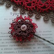 Украшения ручной работы. Ярмарка Мастеров - ручная работа вишневая пуговка.... Handmade.