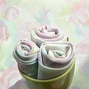 Для дома и интерьера handmade. Livemaster - original item Tablecloth and 12 Napkins, Floral Print Peonies Tablecloth and Napkins. Handmade.
