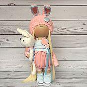 """Куклы и игрушки ручной работы. Ярмарка Мастеров - ручная работа Текстильная кукла """"Розовый Зайчик"""". Handmade."""