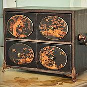 Для дома и интерьера ручной работы. Ярмарка Мастеров - ручная работа Мини комод в стиле шинуазри. Handmade.