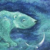 Картины и панно ручной работы. Ярмарка Мастеров - ручная работа Убаюкивающий луну.... Handmade.