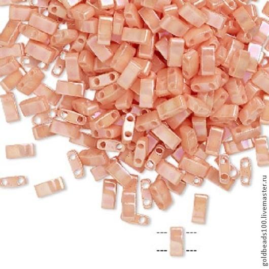 Для украшений ручной работы. Ярмарка Мастеров - ручная работа. Купить MIYUKI Half-Tila 596  opaque ceylon rainbow light peach. Handmade.
