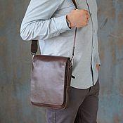 Сумки и аксессуары handmade. Livemaster - original item Men`s leather tablet bag