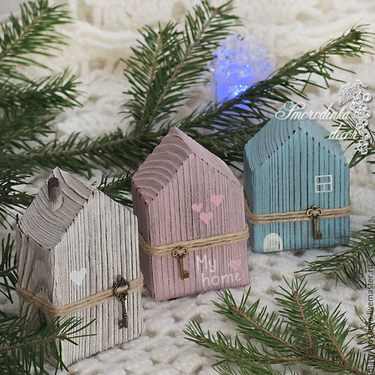 Элементы интерьера ручной работы. Ярмарка Мастеров - ручная работа. Купить Интерьерные домики из дерева. Handmade. Домики, для интерьера, на подарок