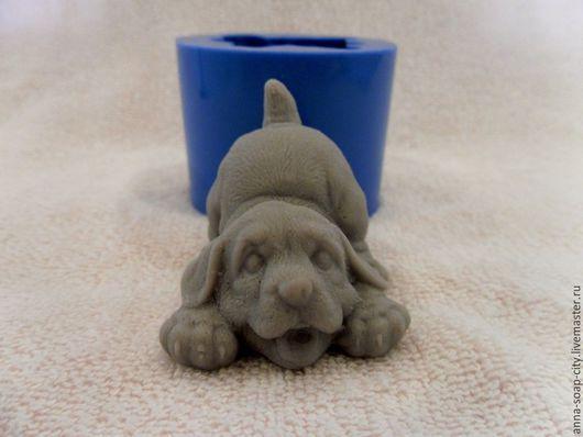 """Другие виды рукоделия ручной работы. Ярмарка Мастеров - ручная работа. Купить Силиконовая форма для мыла """"Пёсик"""". Handmade."""