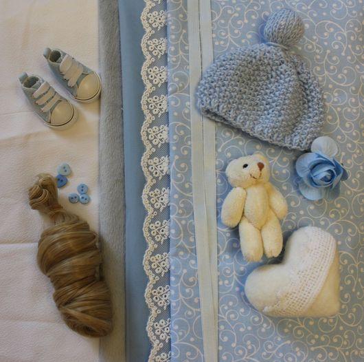 Куклы тыквоголовки ручной работы. Ярмарка Мастеров - ручная работа. Купить Набор для самостоятельного пошива куколки. Handmade. Голубой