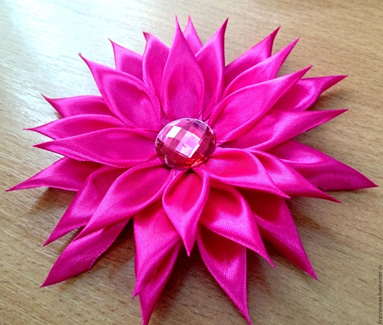 Цветок георгина из лент своими руками - Мастер 94