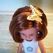 Одежда для кукол ручной работы. Ярмарка Мастеров - ручная работа Ободок Бабочка для кукол Паола Реина. Handmade.