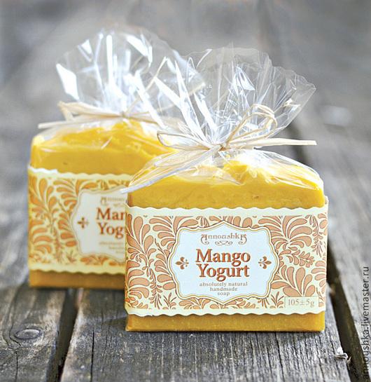 """Мыло ручной работы. Ярмарка Мастеров - ручная работа. Купить """"Манго и Йогурт"""". Handmade. Рыжий, натуральное мыло, омыленные масла"""