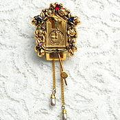 Винтаж handmade. Livemaster - original item Fur clip-a cuckoo Clock,CORO Pegasus,USA,clip,brooch,40th years,watch. Handmade.
