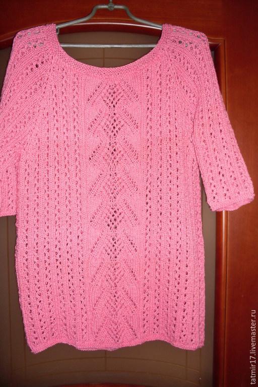 Кофты и свитера ручной работы. Ярмарка Мастеров - ручная работа. Купить Пуловер женский. Handmade. Розовый, реглан, 100% хлопок