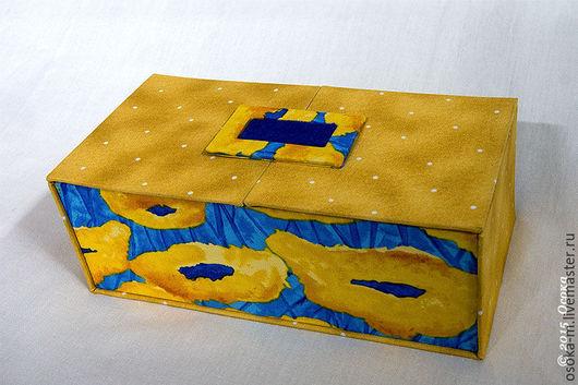 "Шкатулки ручной работы. Ярмарка Мастеров - ручная работа. Купить Шкатулка для колец ""Ван Гог"". Handmade. Желтый, шкатулка на заказ"