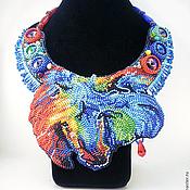 Украшения ручной работы. Ярмарка Мастеров - ручная работа Колье Огненная синяя лошадь. Handmade.