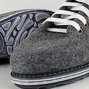 """Обувь ручной работы. Ярмарка Мастеров - ручная работа Ботинки из войлока """"Ультра Серый"""". Handmade."""