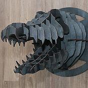 Панно ручной работы. Ярмарка Мастеров - ручная работа Голова Крокодил. Handmade.