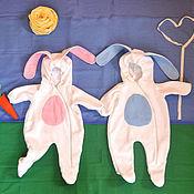 """Работы для детей, ручной работы. Ярмарка Мастеров - ручная работа Комбинезон """"Зайка"""" для малышей. Handmade."""