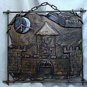 """Для дома и интерьера ручной работы. Ярмарка Мастеров - ручная работа Часы """"Старый замок"""". Handmade."""